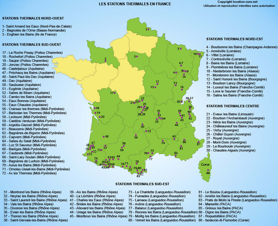 Villes Thermales France