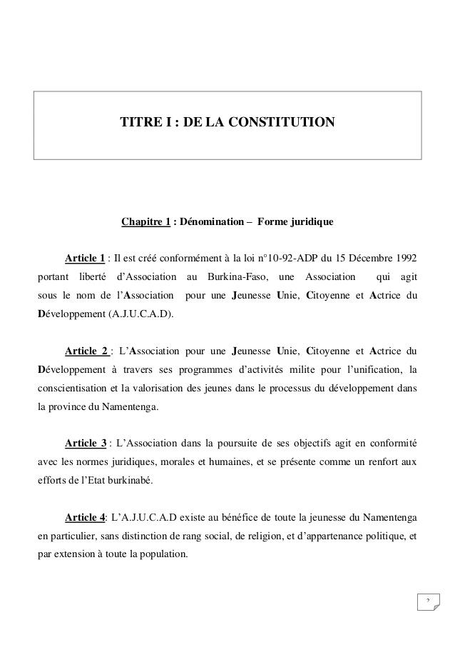 Exemple Statut Association Bien Etre Hammam Sauna Centre De Bien