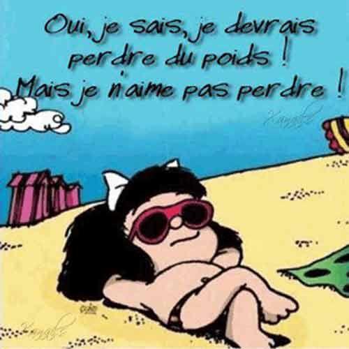 Mafalda perdre du poids