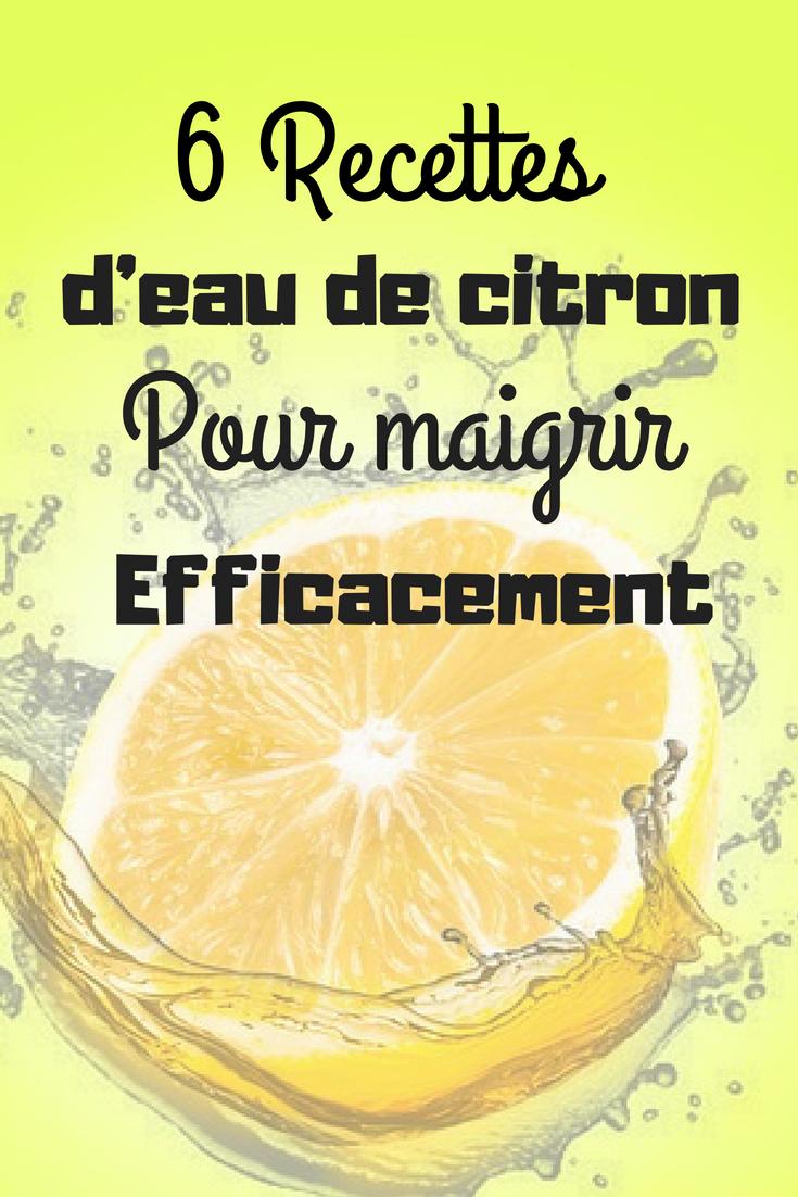 Du citron pour perdre du poids