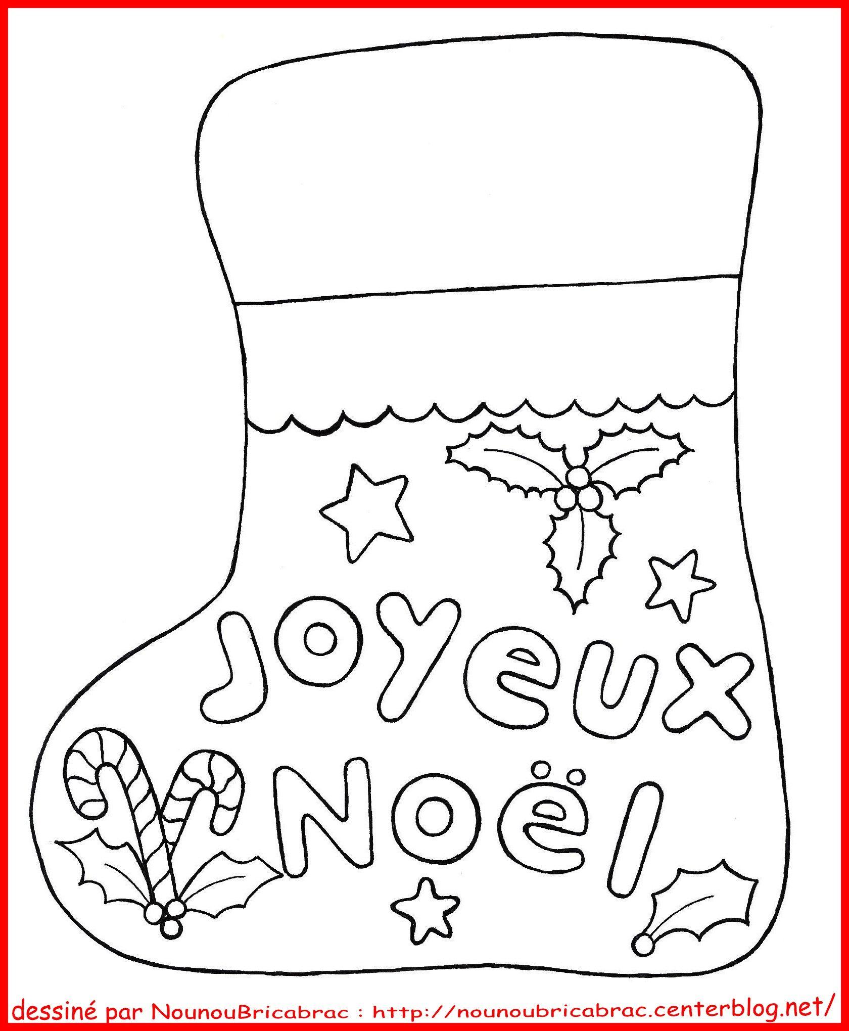 Carte de joyeux noel a colorier