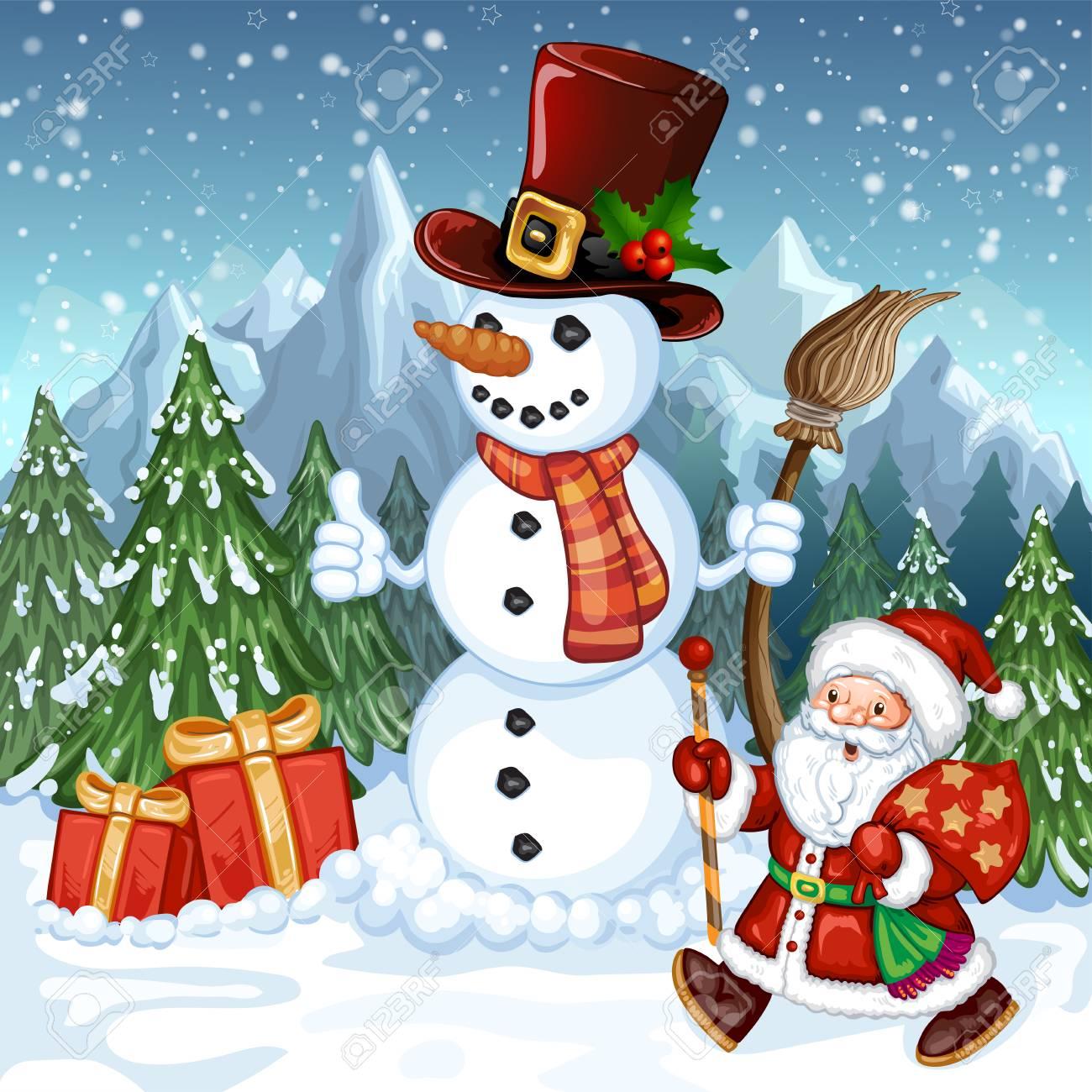 Carte de noel animée bonhomme de neige