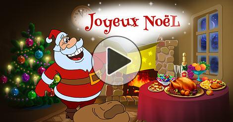 Carte animation joyeux noel