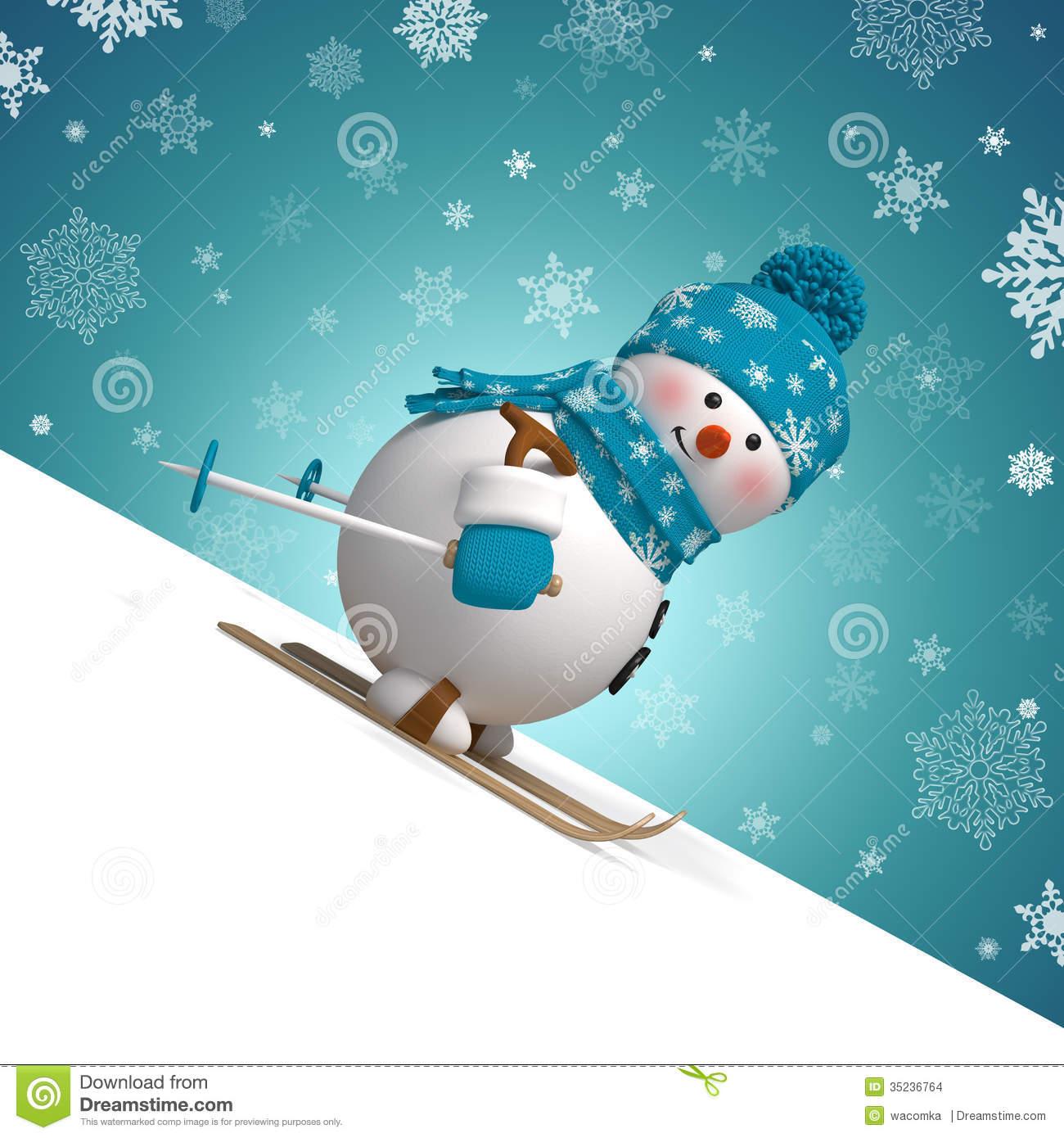 Carte de noel avec bonhomme de neige