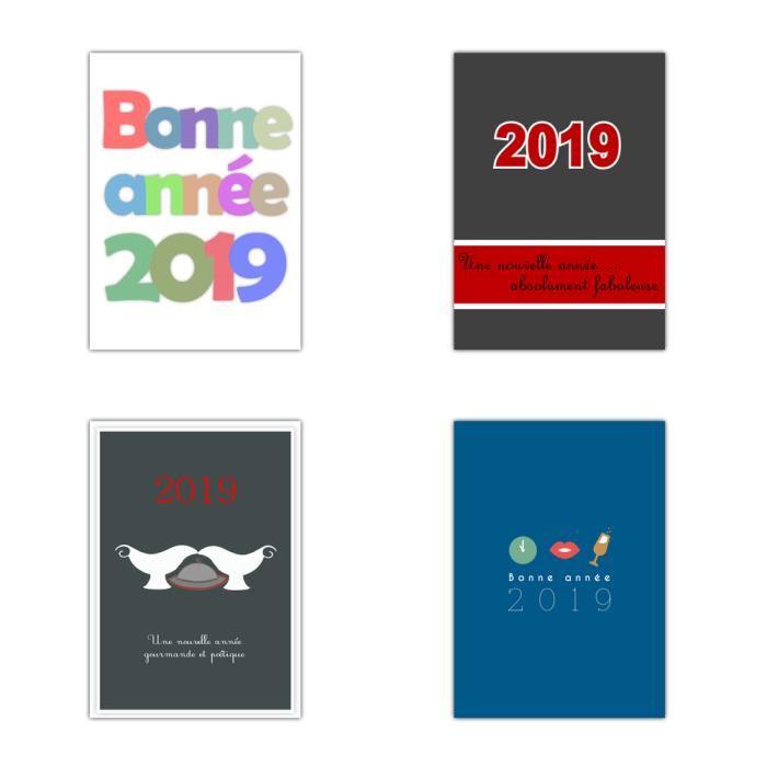 Carte bonne année design