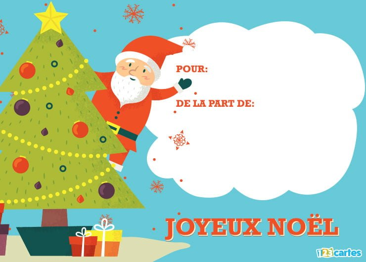 Carte invitation noel gratuite