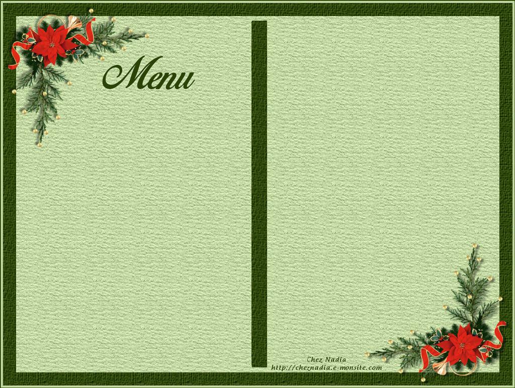 Carte menu noel
