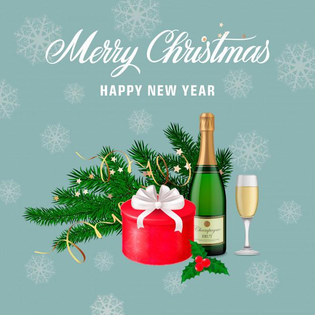 Carte de voeux noel et nouvel an gratuite