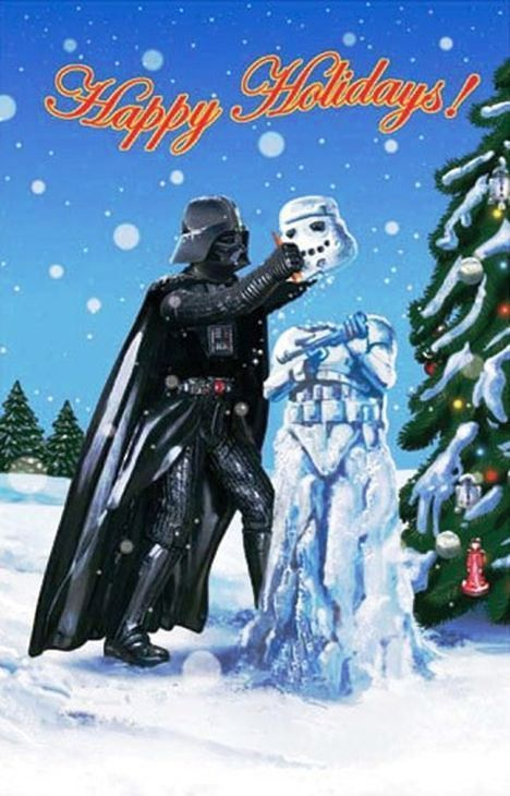 Carte de noel star wars