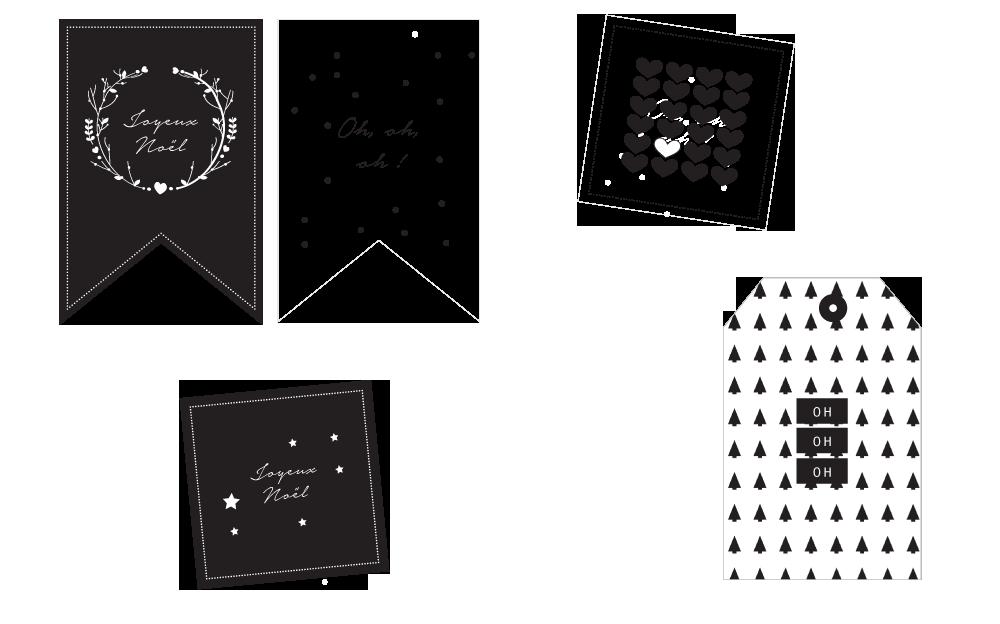 Carte de noel a imprimer noir et blanc