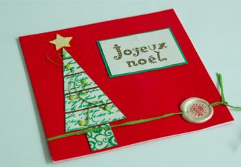 Fabrication carte de noel