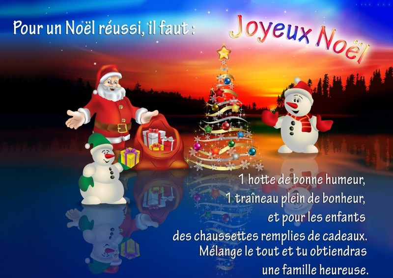 Carte noel virtuelle animée