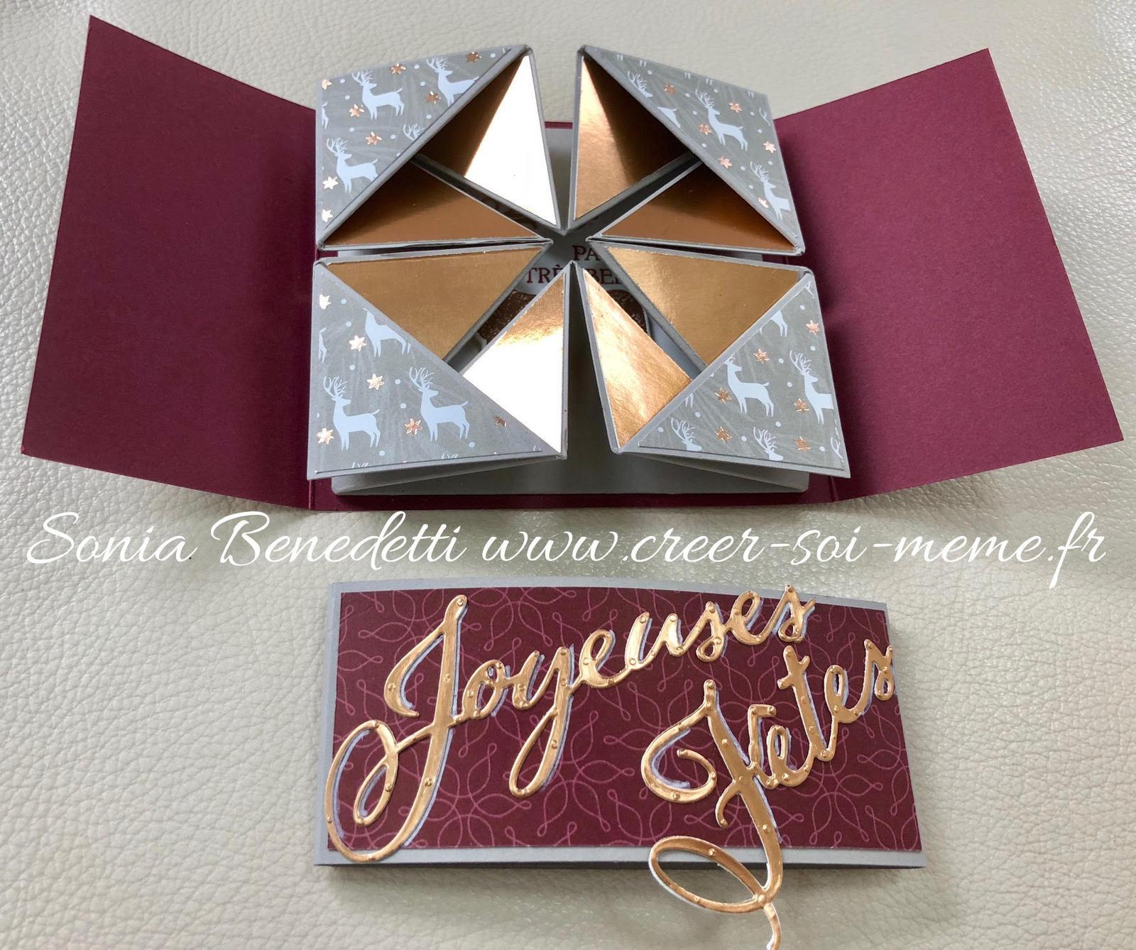 Carte de noel origami