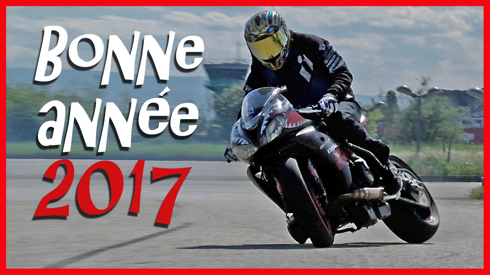 Carte bonne année moto
